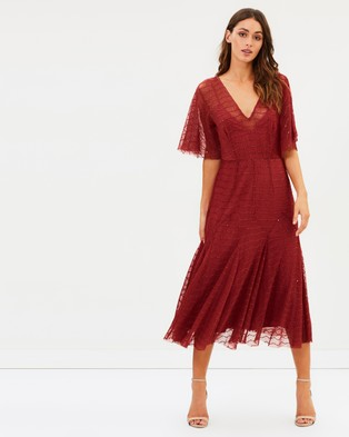 Talulah – Candid Lace Midi Dress Azalea