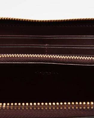 Coach Accordion Zip Wallet - Wallets (Oxblood)