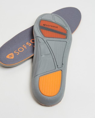 SofSole Athletic Insoles   Men's - Slippers & Accessories (Grey)