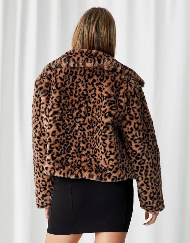 Women Florence Faux Fur Crop Jacket