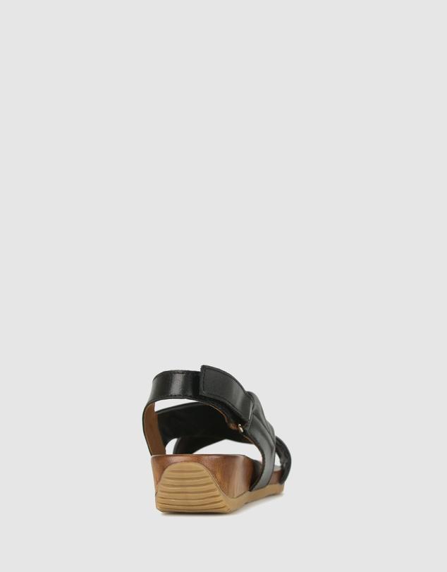 Women Zada Leather Wedge Sandals