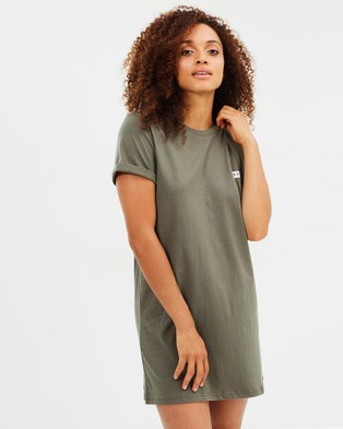 Dead Studios – Basic Box Logo Tee Dress Olive