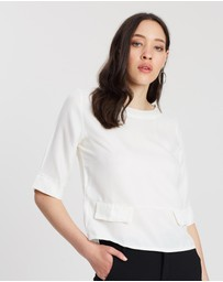 Mossée - Brianna Cotton Silk Scoop Neck Relaxed Top