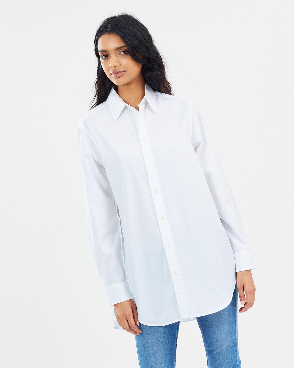 8e70fb05ca2f7 Polo Ralph Lauren Broadcloth Long Sleeve Shirt Tops White Broadcloth Long  Sleeve Shirt