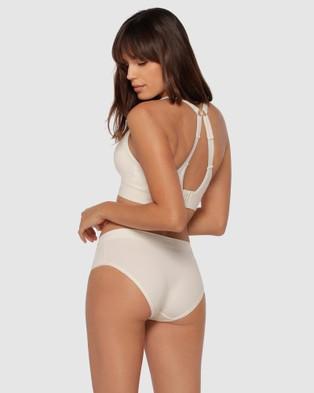 Lorna Jane - Feel Naked Briefs - Briefs (Cream) Feel Naked Briefs