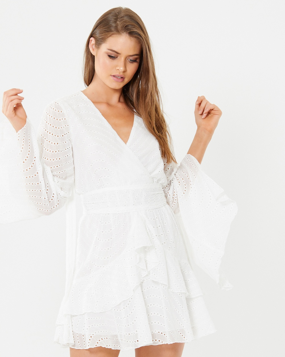 Alys Rylstone Frill Dress Dresses White Rylstone Frill Dress