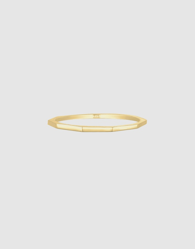 Elli Jewelry - Ring Classic Geo Minimalist 375 Yellow Gold