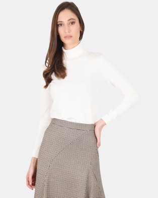 Forcast – Casey Turtle Neck Knitted Sweater – Tops (Ivory)