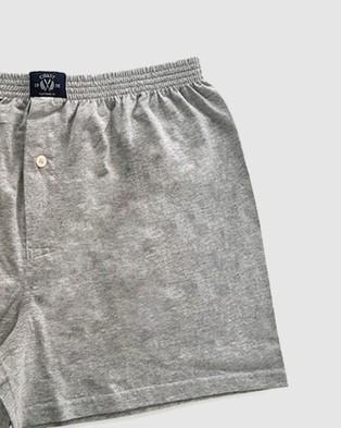 Coast Clothing 3 Pack Boxer Shorts - Boxers (Grey Marle)