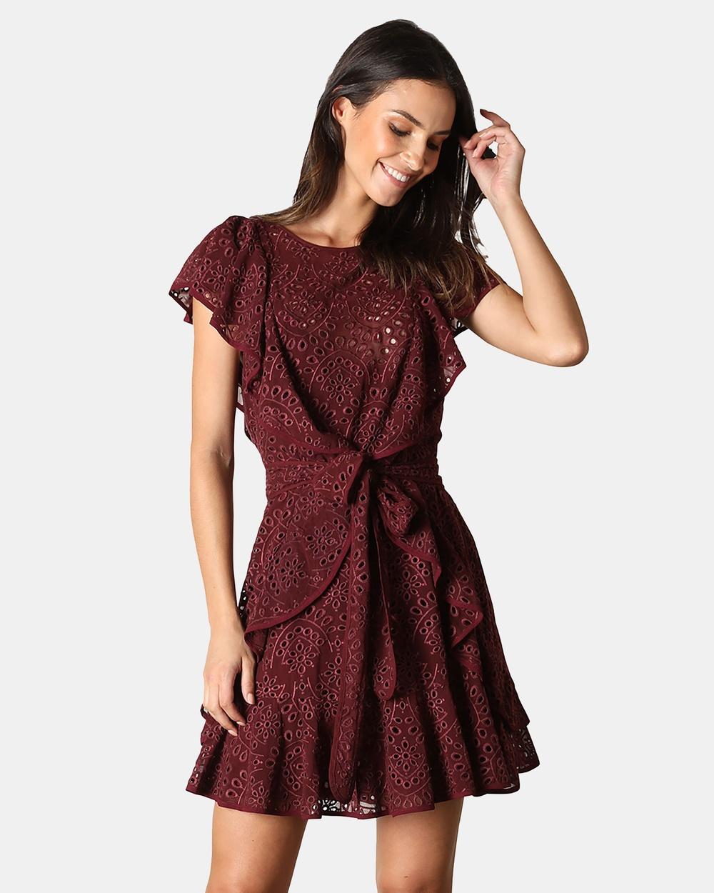 Rodeo Show Iris Mini Dress Dresses Wine Iris Mini Dress