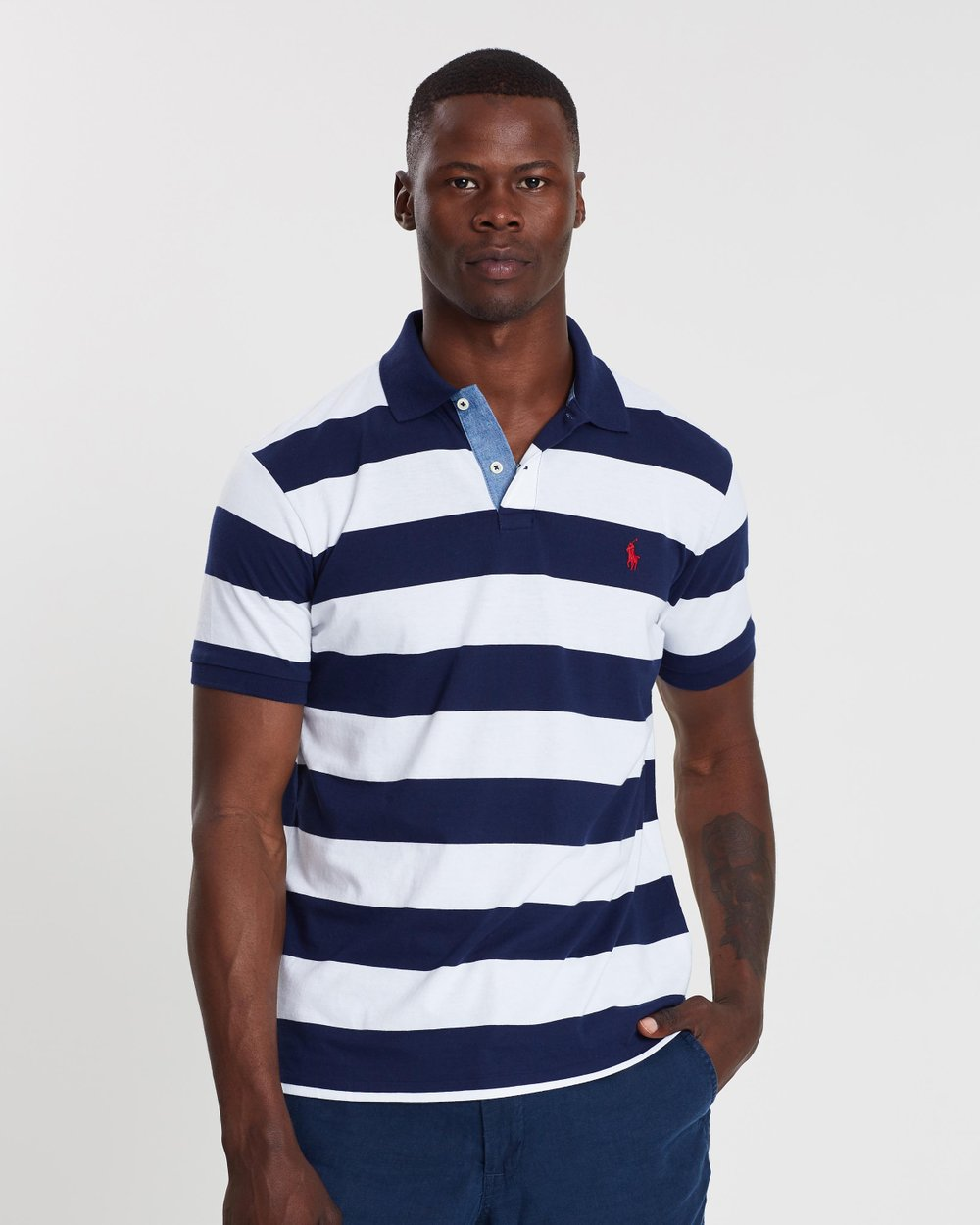 Short Sleeve Jersey Knit Polo by Polo Ralph Lauren Online   THE ICONIC    Australia 939d0b2574ec