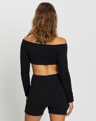 adidas Originals Off Shoulder Crop Top - Cropped tops (Black)