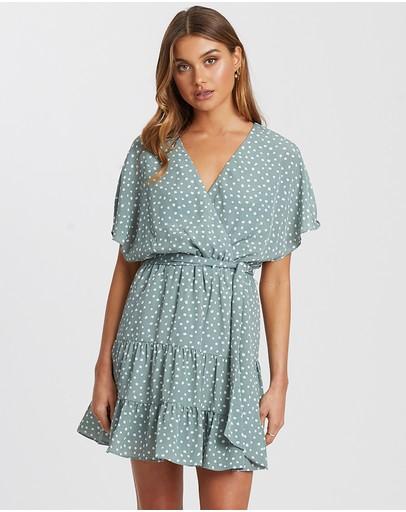 Tussah Bronte Mini Dress Sage Spot