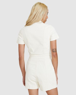 Insight Avianna Cord Boilersuit - Jumpsuits & Playsuits (WHITE)