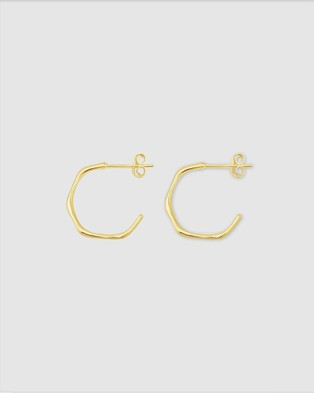 Ichu Faceted Mini Hoops - Jewellery (Gold Plated)