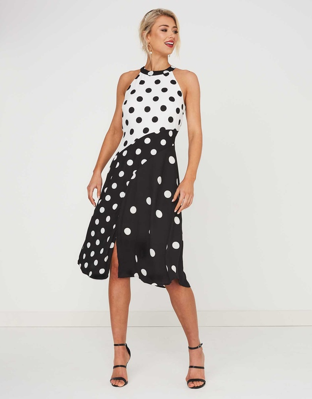Stella - Splice Spot Dress