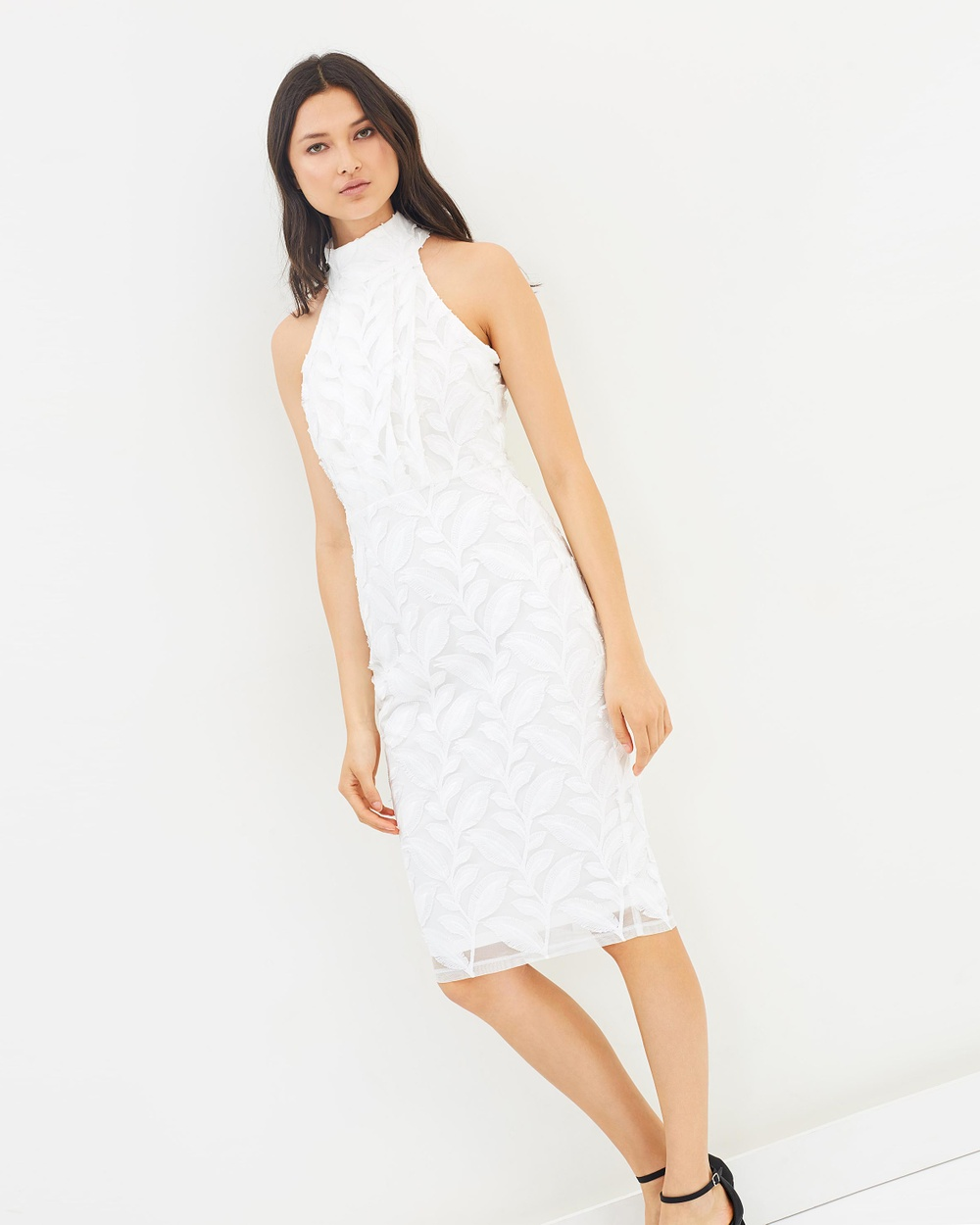 Airlie Delicate Leaf Lace Dress Dresses White Delicate Leaf Lace Dress