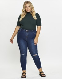 You & All - Plus Knee Slash Skinny Jeans