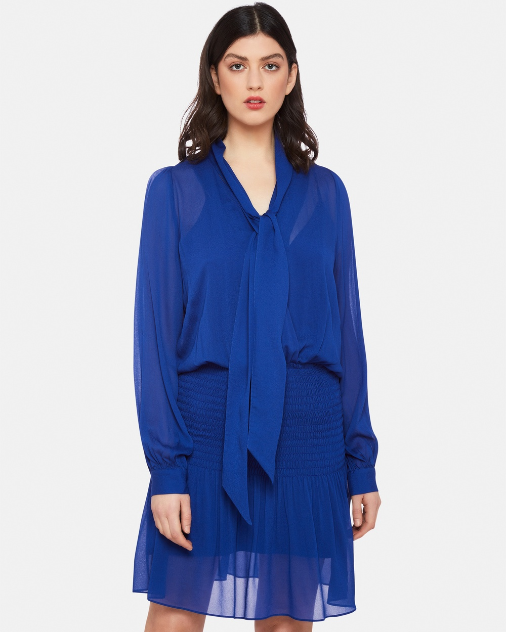 Oxford COSTA GEORGETTE DRESS Dresses Blue COSTA GEORGETTE DRESS