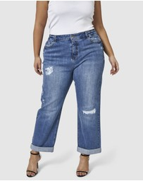 Indigo Tonic - Annie Roll Up Boyfriend Jeans