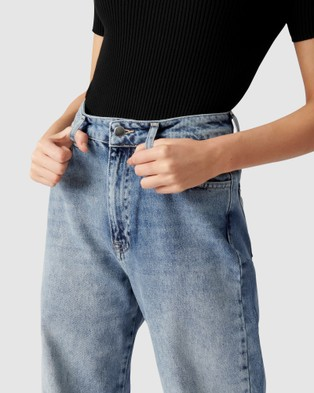 Forever New - Anna High Rise 90s Straight Jean - Jeans (Mid Wash) Anna High Rise 90s Straight Jean