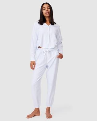 Cotton On Body Flannel Sleep Shirt - Sleepwear (Pyjama Stripe)