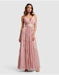 Forever New - Kayla Spliced Lace Pleated Maxi Dress