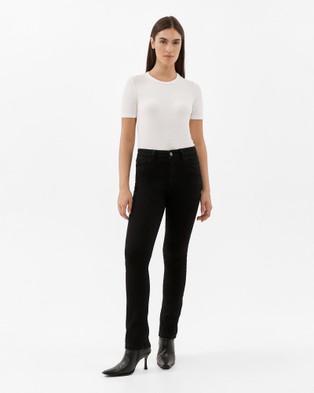Jag Bianca High Rise Slim Straight Jeans - Slim (Black)