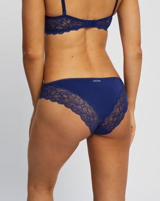 Calvin Klein Seductive Comfort with Lace Bikini Briefs - Bikini Briefs (Space Blue)