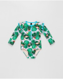 Aqua Blu Kids - Paradiso Flutter Long Sleeve One-Piece - Babies