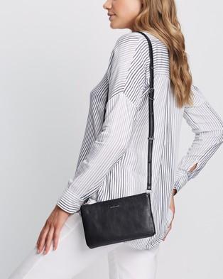 MATT & NAT Triplet Cross Body Bag - Clutches (Black)