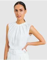 Forcast - Kensington Pleat Neck Top