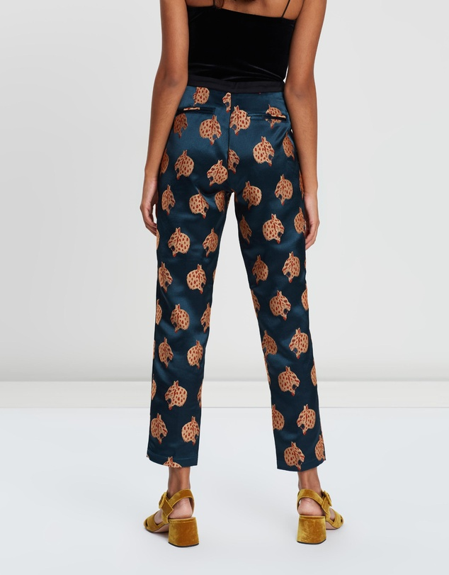 price reduced new release super cute Special Snow Leopard Jacquard Tailored Pants