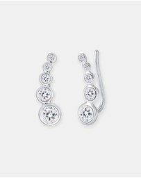 Elli Jewelry - Earrings EarEar Cuff Circle Swarovski® Crystals 925 Silver