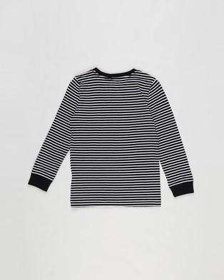 Cotton On Kids - Core Long Sleeve Tee   Kids - T-Shirts & Singlets (Black & White Stripe) Core Long Sleeve Tee - Kids