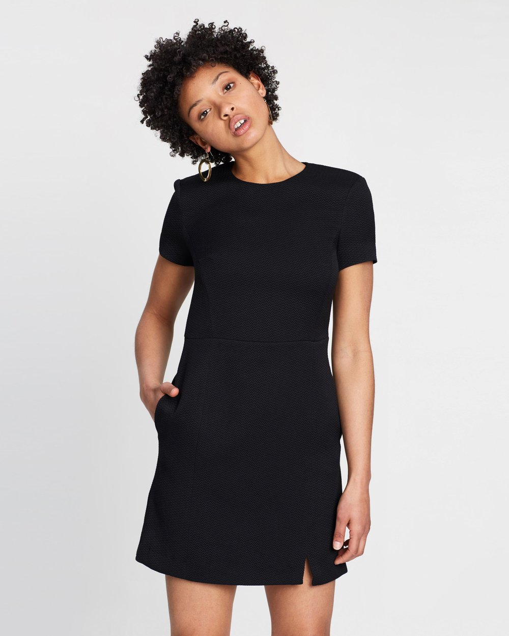34b796041 Hua Textured Fitted Dress by French Connection Online | THE ICONIC |  Australia