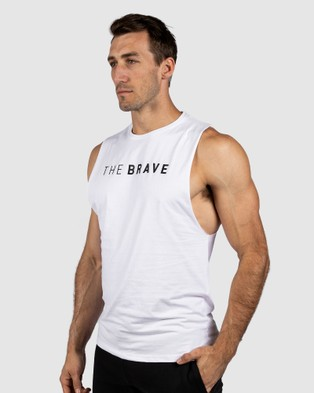 The Brave Signature Tank 2.0 Muscle Tops White
