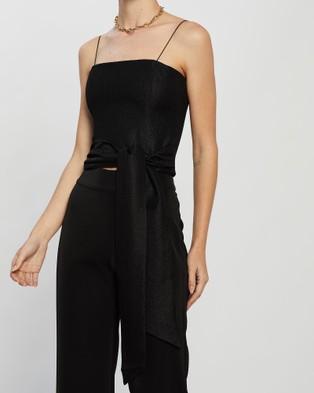 KIANNA Lara Wrap Top - Cropped tops (Black)