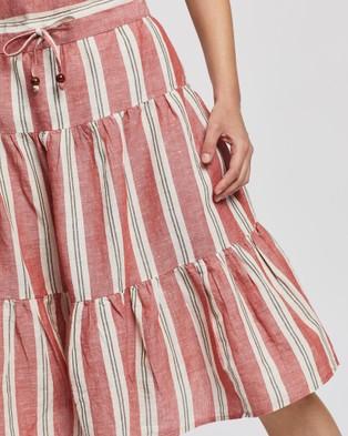 KAJA Clothing Havanna Skirt - Skirts (Red Stripe)