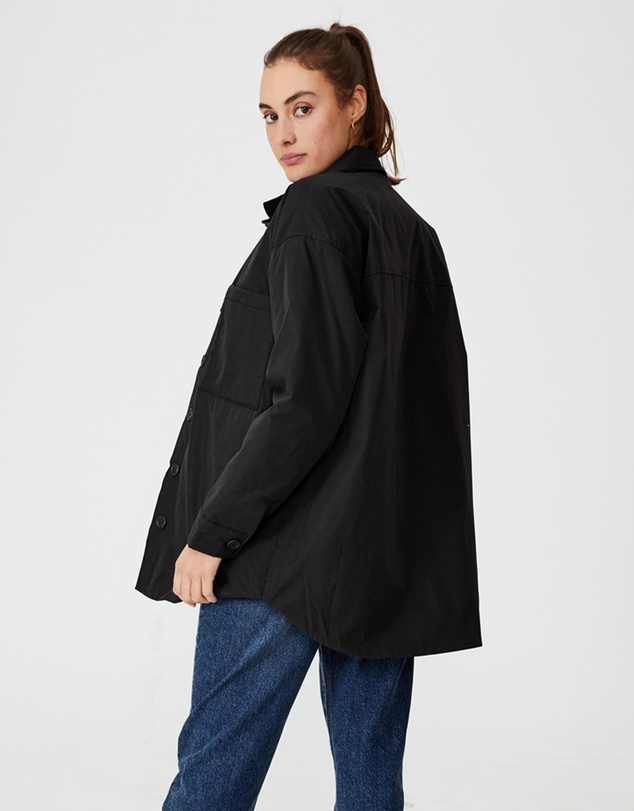 Women Recycled Padded Shacket