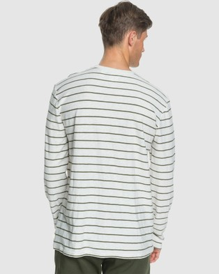 Quiksilver - Mens Kentbold Long Sleeve T Shirt - Long Sleeve T-Shirts (KENTBOLD KALAMATA) Mens Kentbold Long Sleeve T Shirt