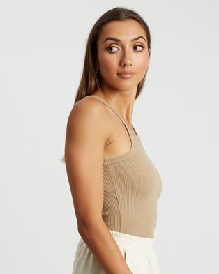 BWLDR - Tori Logo Tank T-Shirts & Singlets (Tan)