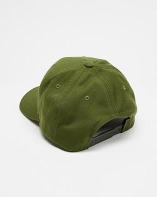 Brixton Alpha Block Curved Medium Profile Snapback - Headwear (Military)