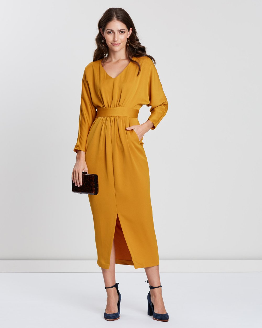 f905dd1b79a Gathered Waist Tulip Dress by Closet London Online