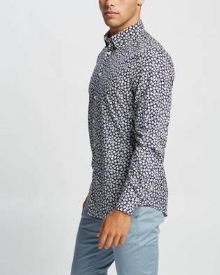 Marcs Liam Slim Shirt - Casual shirts (Navy & White )