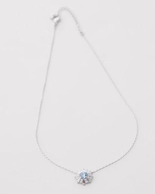 Swarovski Sunshine Pendant Necklace - Jewellery (CZ Blue & Rhodium Plating)