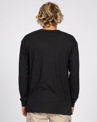 Rusty - One Hit Hemp Long Sleeve Tee - Long Sleeve T-Shirts (BLK) One Hit Hemp Long Sleeve Tee