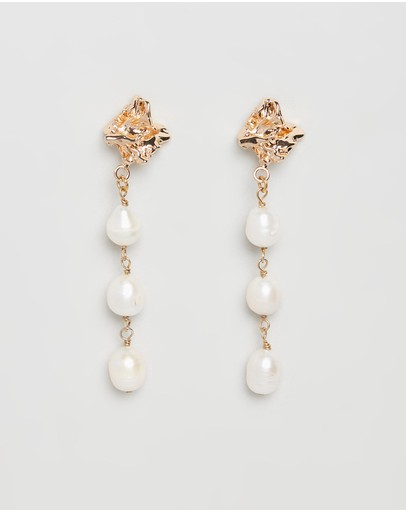 Carly Paiker Sun Dappled Strand Earrings Gold