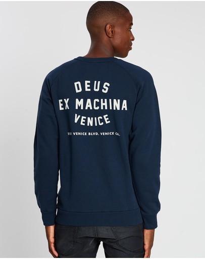 Deus Ex Machina Venice Address Crew Sweater Navy