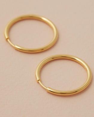 Maria Black Senorita 20mm Hoops - Jewellery (Gold)